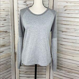 ADIDAS   Climalite Heather Grey Long Sleeve Top